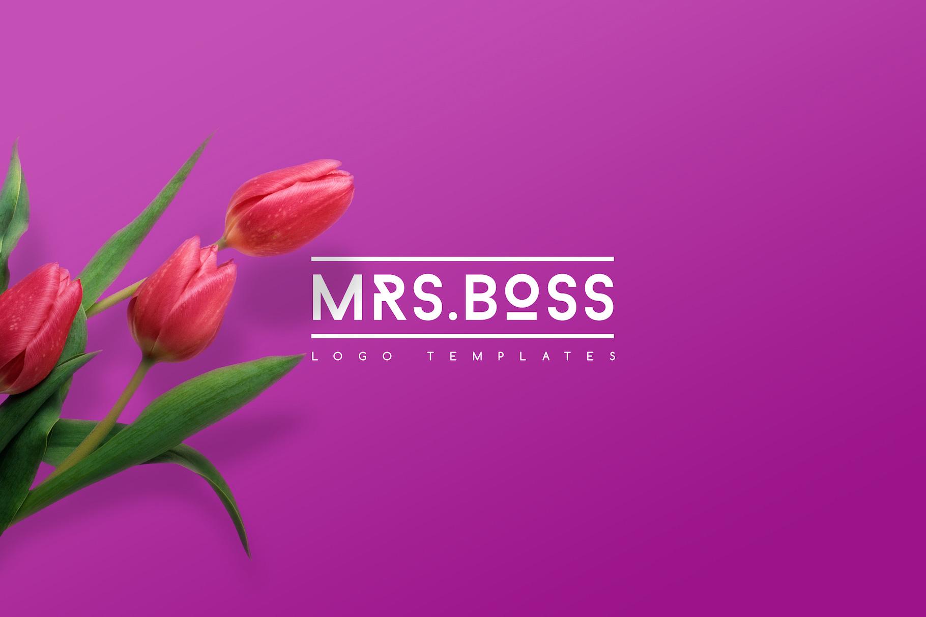 mrs-boss-feminine-logo-templates-easybrandz