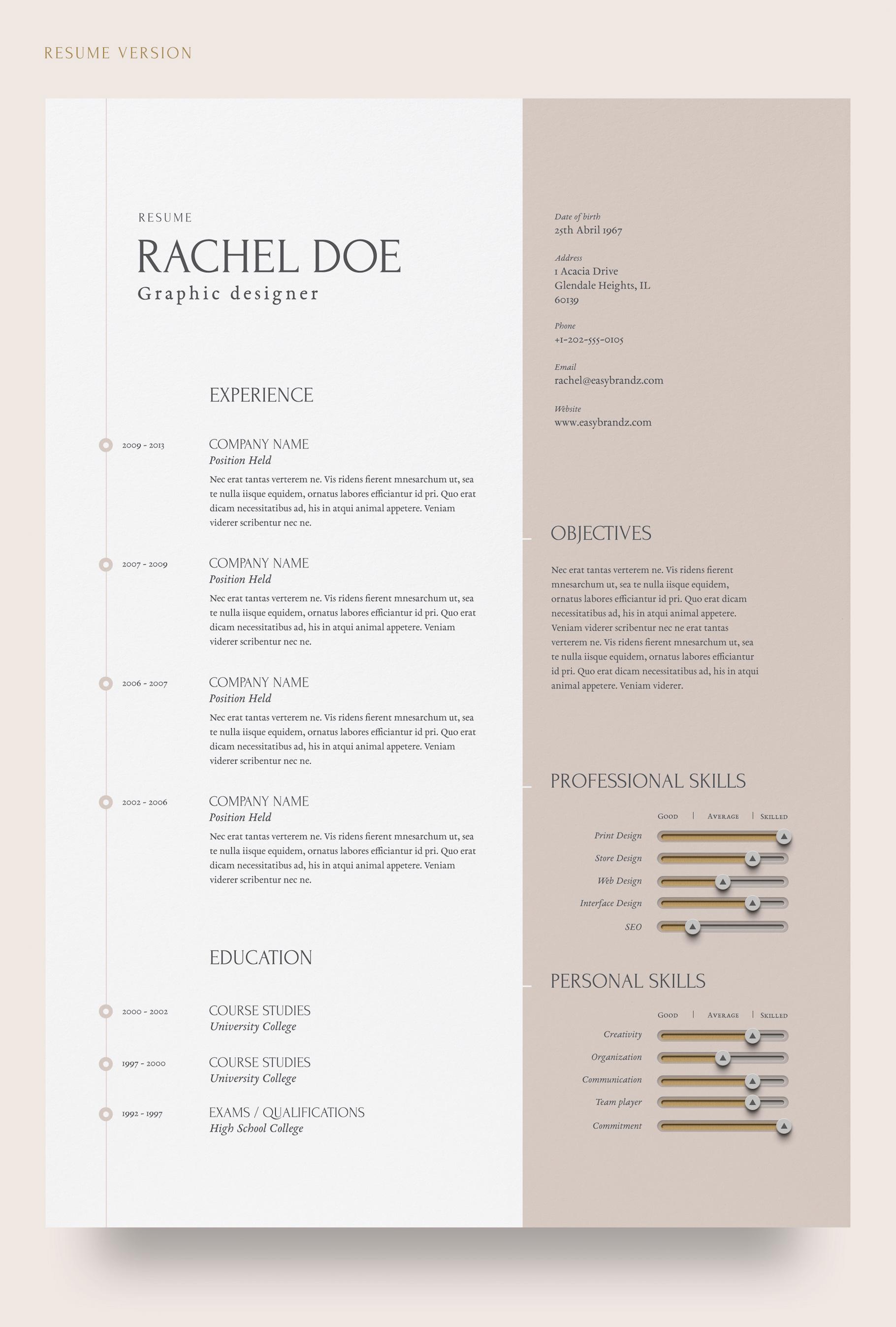 resume  u0026 portfolio template - resume templates